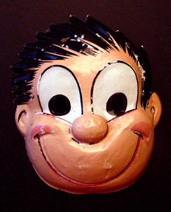 Cartoon boy mask.
